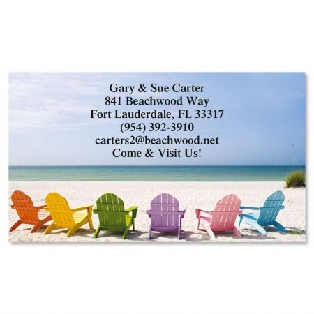 Set Calling Card (Tropical View Business Cards - Set of 250 2