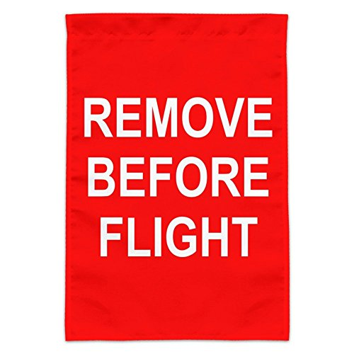 Graphics and More Remove Before Flight Airplane Warning Garden Yard Flag (Pole Not Included)