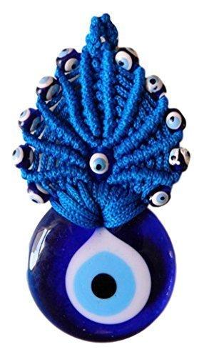 contra el mal de ojo de cristal Tradicional ojo turco con crochet para la buena suerte para colgar en la puerta