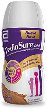 PediaSure Complemento Alimenticio para Niños, Sabor Chocolate, con Proteínas, Vitaminas y Minerales - Pack de 4 Botellas x 220 ml