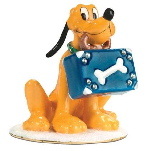 D56 Dept 56 Bejeweled Disney Pluto Trinket Box