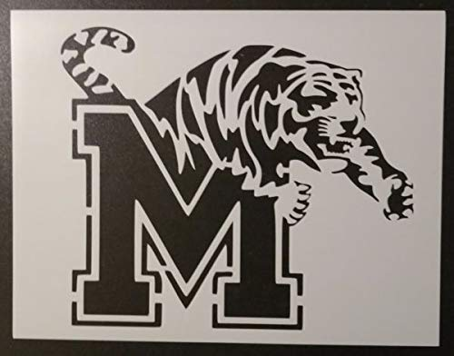 Custom Stencil University of Memphis Tigers Tiger 11 x 8.5 Fast