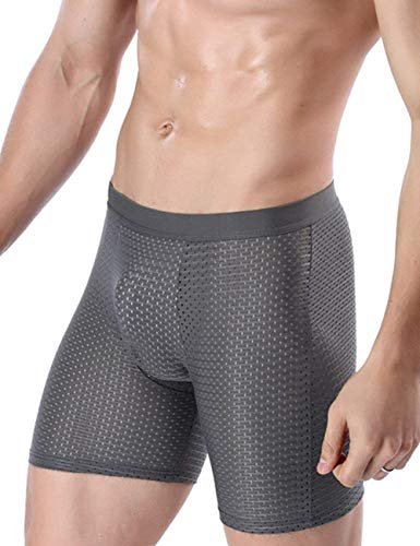 E Haidean Underwear Uomo Morbidi Panty Grau Elasticizzati Pantaloncini Da Base Comodi Unita Moderna Tinta Mutande Di Casual Traspiranti WDeY9IHE2