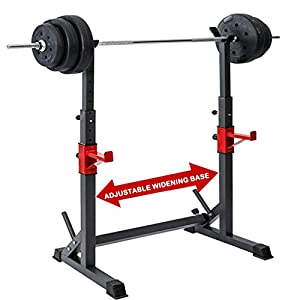 Multi-Function Barbell Rack 550 LBS Dipping Station Adjustable Squat Weight Bench Press Gym Family Fitness
