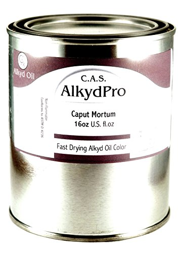 C.A.S. Paints AlkydPro Fast-Drying Oil Color Paint Can, 16-Ounce, Caput Mortuum