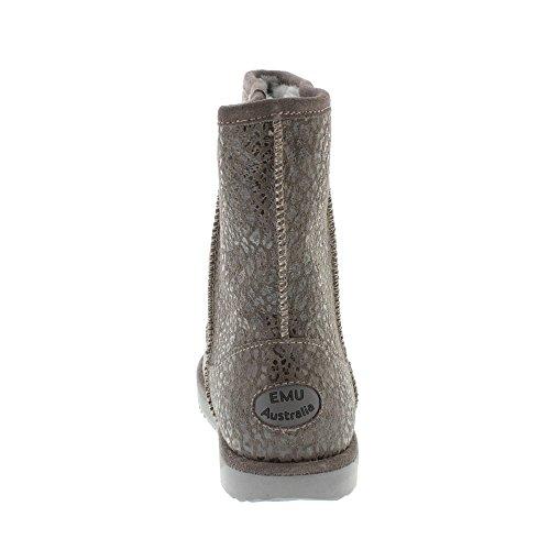 Emu Paterson Leopard Charcoal Winterschuh W11332 Damen Stiefel