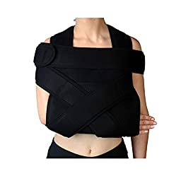 Shoulder Immobilizer & Arm Sling by Soles — Breathable, Lightweight & Adjustable Neoprene — Soft, Comfortable Support — Improves Recovery Times — Velpeau Bandage — One Size Fits Most (Adult)