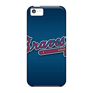 Shock-Absorbing Hard Phone Cases For Iphone 5c With Provide Private Custom Fashion Atlanta Braves Skin KimberleyBoyes