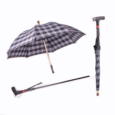 Amazon.com : Height Adjustable Elder Umbrella Walking Stick ...