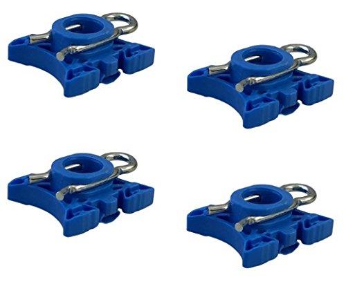 DELPA CL5472 - 4 pcs of = WINDOW REGULATOR SLIDING PIVOT ROLLER CLIPS Fits: 1992 thru 2009 VOLVO 740 940 960 S60 S80 S90 V70 V70 XC90 XC90
