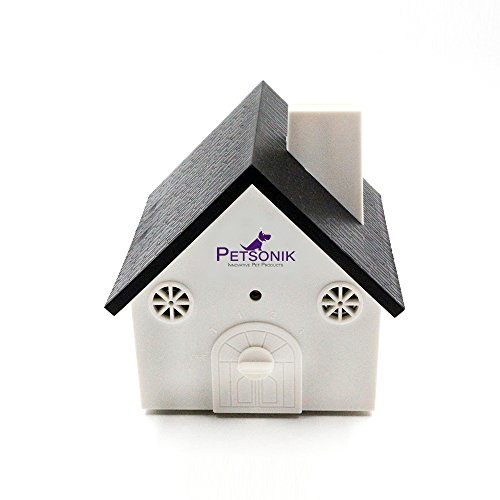 Birds No Box - PETSONIK Ultrasonic Outdoor Dog Bark Controller Sonic Bark Deterrent in Newest Birdhouse Shape, No Harm to Dog or other Pets, Plant, Human, Easy Hanging / Mounting On Tree, Wall, Or Fence Post