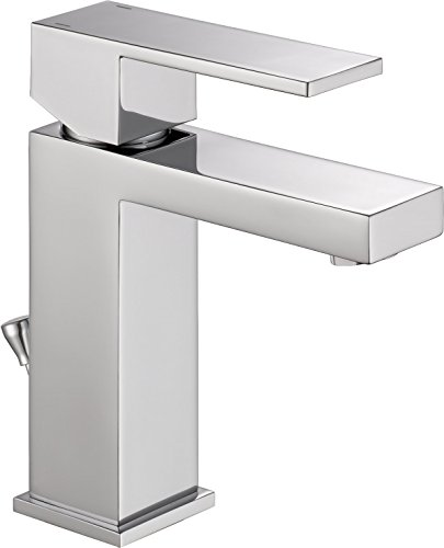 Delta 567LF-PP Modern Single-Handle Bathroom Faucet with Drain Assembly, Chrome