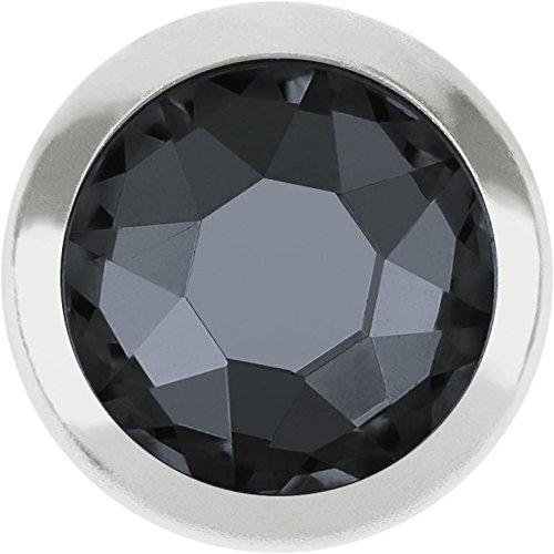 (2078/H Swarovski Flatback Crystals Hotfix Framed SS16 | Black Diamond - Silver Rim | SS16 (3.9mm) - Pack of 50 | Small & Wholesale Packs )