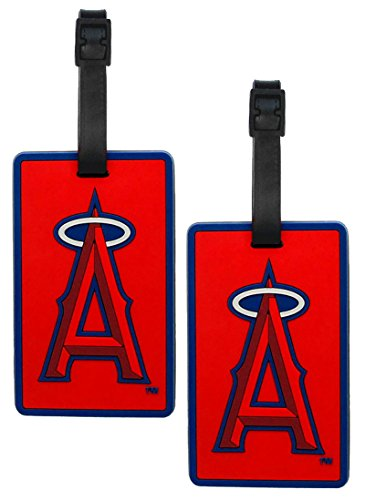 Los Angeles Angels - MLB Soft Luggage Bag Tag - Set of 2