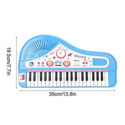 Pasamer Electric Piano, Keyboard Electric Piano Instrument with Microphone Kids Educational Toy 37Key(Blue): Home & Kitchen