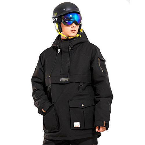 Skisuit 2019 Men and Women Winter Warm Snowboard Suits Mountain Climbing High Windproof Waterproof Jacket Black L