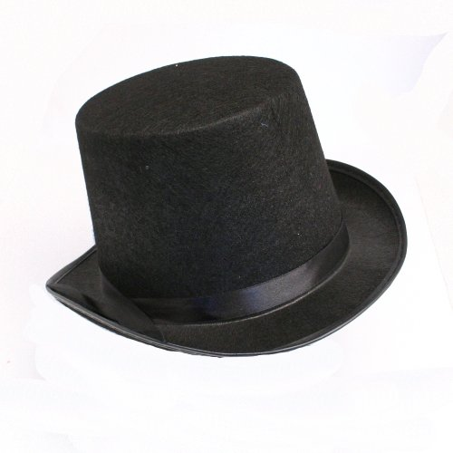 [Black Felt Top Hat] (Snowman Costume Hat)