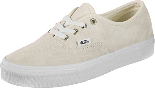 Vans Authentic (Pig Suede) Moonbeam/True White Skateboard Sneakers VN0A38EMU5L (7.5 Mens/9 Womens)