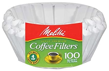 Melitta Junior Basket Coffee Filters White 100 Count 62912