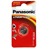 Panasonic CR1632 Lithium Battery 3 V Pack of 2)