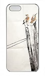 Chinese Ink and wash painting PC Transparent For SamSung Galaxy S5 Mini Phone Case Cover - Dry tree