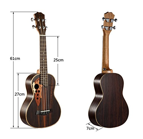 23-inch Hawaii ukulele rosewood professional concert Ukulele send tuner trim folder thick piano bag - Image 5