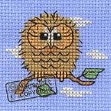 Mouseloft Mini Cross Stitch Kit - Baby Owl, Stitchlets Collection