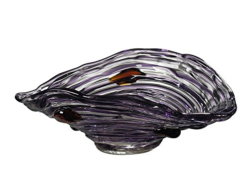 (Dale Tiffany Amethyst Hand Blown Art Glass Bowl, Purple)