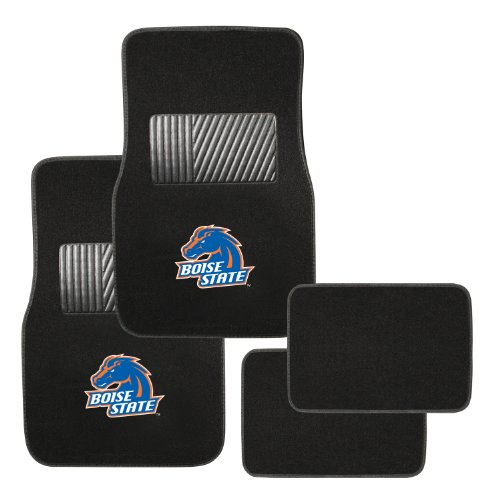 Pilot Alumni Group FM-988 Universal Fit Four Piece Floor Mat Set (Collegiate Boise State Broncos)