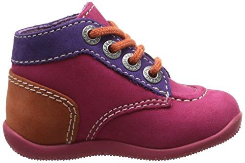 pas premiers Orange fille Kickers Chaussures Rose Fuchsia bébé Bonbon Violet qOanT6Fw