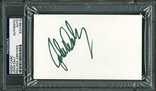 - John Daly Golf Autographed Signed 3X5 Index Card Autographed Signed - PSA/DNA Certified