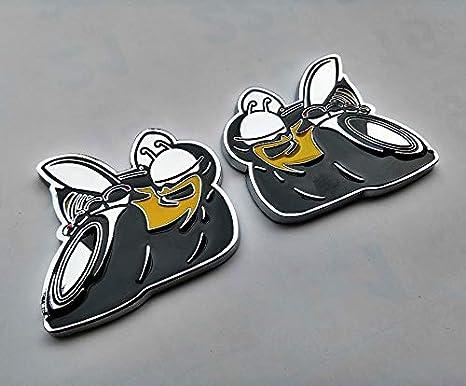 1x Super Bee Emblem Badge Sticker Decal Metal Fits For Ram Challenger RT SRT