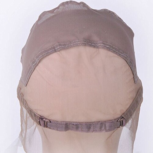 Ladybeauty Full Lace Wig Cap for Making Wigs Swiss Lace Hair Net Brown Color for Wig Making by Ladybeauty (Image #2)