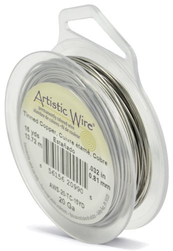 - Artistic Wire 20-Gauge Tinned Copper Wire, 15-Yards