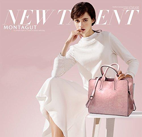 Ladies Bag Bag PU Wine Messenger amp;Doris Shoulder Crossbody Red Pink Bag Leather Tote Purse Nicole Handbag q0xgSwY