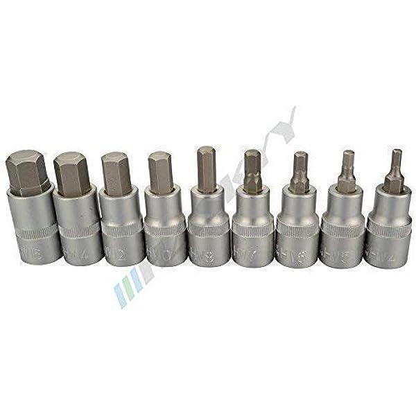 Teng M1213TX 1//2 pouces Socket Clip Rail TX Drive 9 pièces