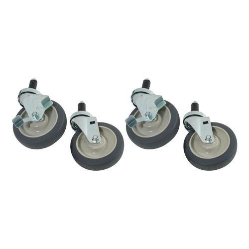 Generic 35798 Caster Set Stem For Shelving 1'' Tubing 5'' Wheels by Generic