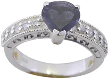 graceful Iolite 925 Sterling fashion Blue Ring jewellery L-1in US