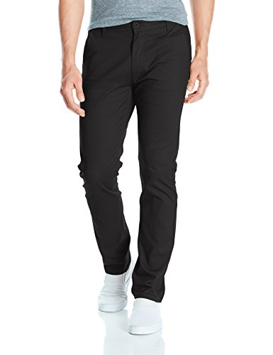 Black Chino Pants - Southpole Men's Flex Stretch Basic Long Chino Pants, Black(New), 32X32