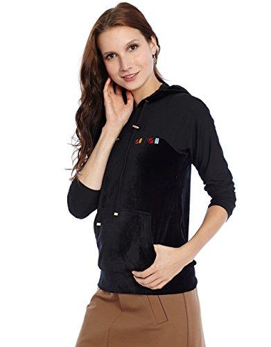 Velour Banded Bottom Pullover - 3