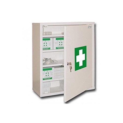 107001 Medizinschrank 2 Ablagen 1 T/ür aus Metall Verschluss mit Schl/üssel Epoxidharz