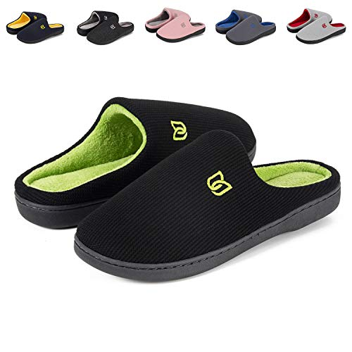 IceUnicorn Mens & Womens Comfort House Slippers Memory Foam Cotton Slippers House Shoes Slip On Indoor Outdoor