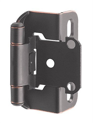 (Amerock BPR7550ORB Self-Closing Partial Wrap Overlay Hinge Oil-Rubbed Bronze (10 Pair) )