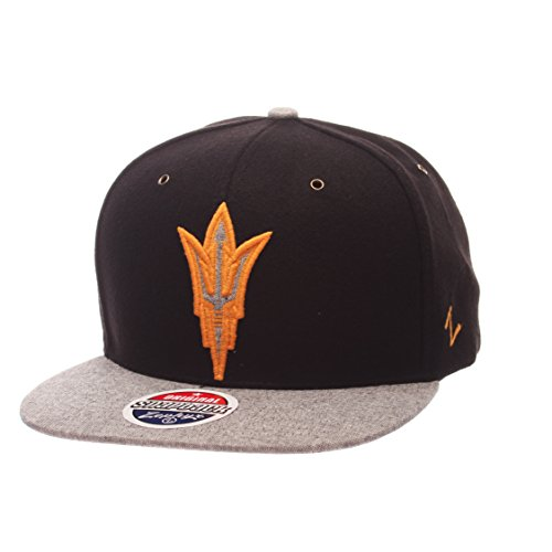 Cap Devils State Sun Arizona (Zephyr NCAA Arizona State Sun Devils Adult Men's Executive Snapback Hat, Adjustable Size, Team Color/Gray)