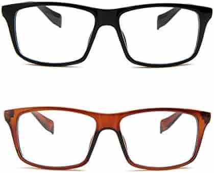 0c280a9da3577 Newbee Fashion - Casual Simple Squared Durable Frames Designer Inspired  Clear Eye Glasses