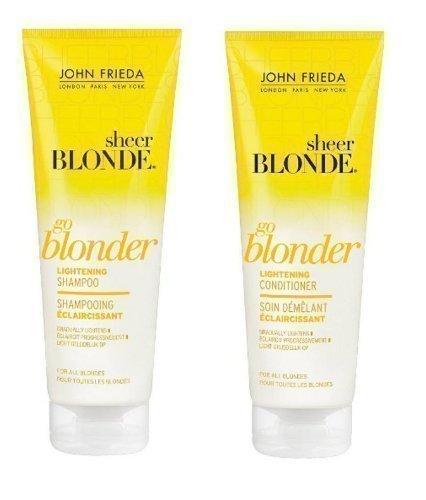 john frieda sheer blonde go blonder lightening conditioner 250 ml beauty. Black Bedroom Furniture Sets. Home Design Ideas