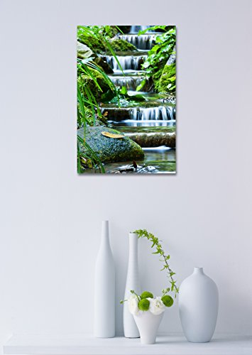 Beautiful Veil Cascading Waterfalls Mossy Rocks
