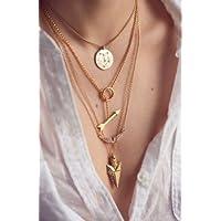 Ransopakul Women Fashion Charm Jewelry Choker Chunky Statement Bib Pendant Chain Necklace