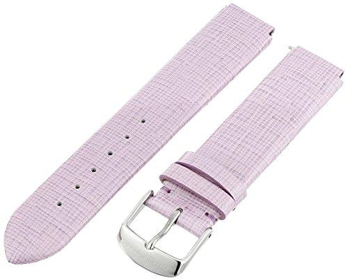 18mm Patent Watch Leather Strap - Philip Stein 1-CSWLPR 18mm Leather Calfskin Purple Watch Strap