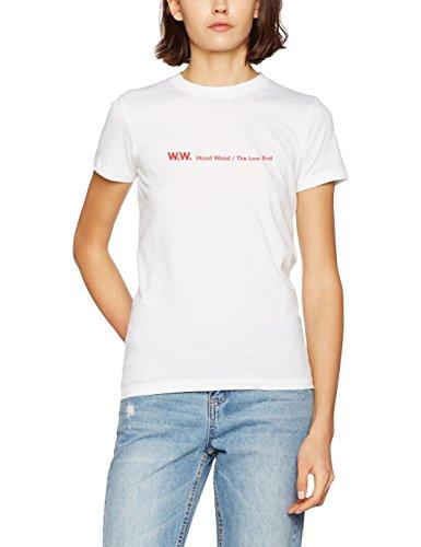 white Blanco Camiseta shirt T Eden Para Wood Mujer xwqH40YTtn